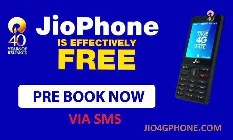 jio phone pre booking